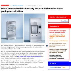 Miele's networked disinfecting hospital dishwasher has a gaping security flaw...