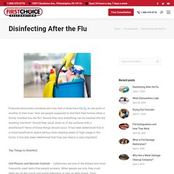 Disinfecting After the Flu - First Choice Restoration