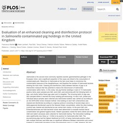 PLOS 08/06/17 Evaluation of an enhanced cleaning and disinfection protocol in Salmonella contaminated pig holdings in the United Kingdom