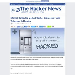 Internet-Connected Medical Washer-Disinfector Found Vulnerable to Hacking