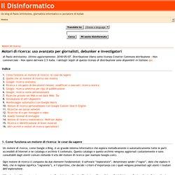 Il Disinformatico - Motori di ricerca