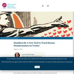 Hamilton 68: A New Tool to Track Russian Disinformation on Twitter – Alliance For Securing Democracy