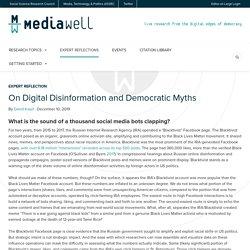On Digital Disinformation and Democratic Myths – MediaWell
