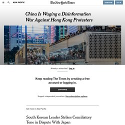 China Is Waging a Disinformation War Against Hong Kong Protesters