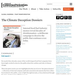 The Climate Deception Dossiers: Internal Fossil Fuel Industry Memos Reveal Decades of Corporate Disinformation