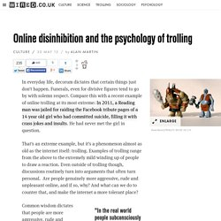 Online disinhibition and the psychology of trolling