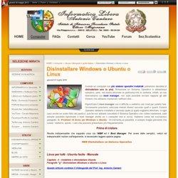 Disinstallare Windows o Ubuntu o Linux