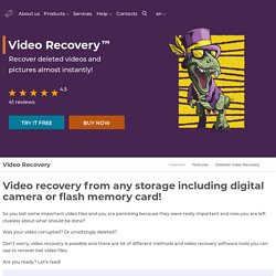 Recover Video Today with DiskInternals Video Recovery™