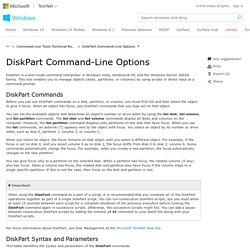 DiskPart Command-Line Options