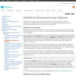 DiskPart Command-Line Options
