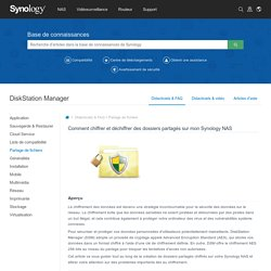 DiskStation Manager - Base de connaissances