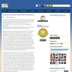 Diskutera reformen istället för förstelärarna ~ Kilskrift