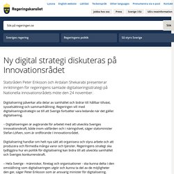 Ny digital strategi diskuteras på Innovationsrådet
