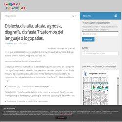 Dislexia, dislalia, afasia, agnosia, disgrafía, disfasia Trastornos del lenguaje o logopatías.