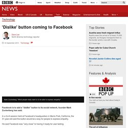 'Dislike' button coming to Facebook - BBC News