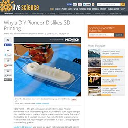 Why a DIY Pioneer Dislikes 3D Printing | Maker Movement