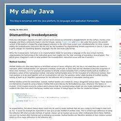 My daily Java: Dismantling invokedynamic