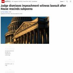 12/30/19: Judge dismisses impeachment witness lawsuit