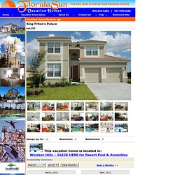 Orlando Vacation Homes, Disney Vacation Rentals, Florida Condos and Houses For Rent