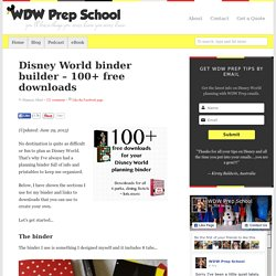 Disney World binder builder – 100+ free downloads