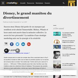 Disney, le grand manitou du divertissement
