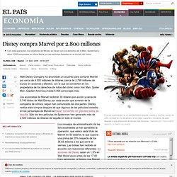 Disney compra Marvel por 2.800 millones