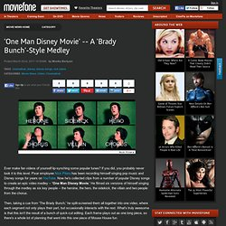 'One Man Disney Movie' -- A 'Brady Bunch'-Style Medley