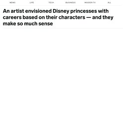 Disney princesses with modern jobs
