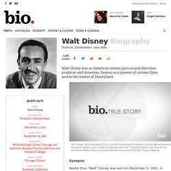 Walt Disney - Producer, Entrepreneur
