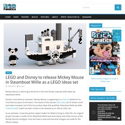 LEGO and Disney to release Mickey Mouse in Steamboat Willie as a LEGO Ideas set