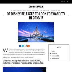 10 Disney Releases to Look Forward to in 2016/17