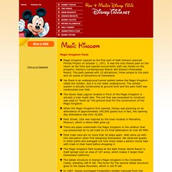 Walt Disney World Magic Kingdom Facts