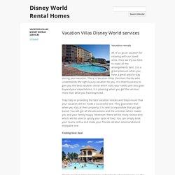 Vacation Villas Disney World services