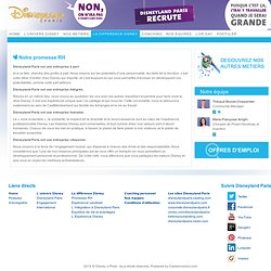 Disneyland Paris Careers - Promesse RH