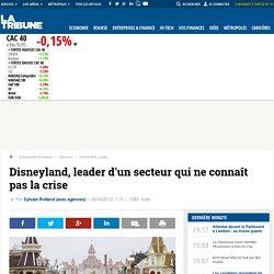 Disneyland, leader d'un secteur qui ne connaît pas la crise