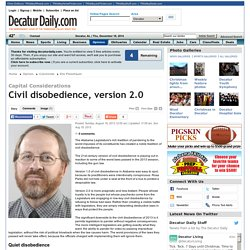 Civil disobedience, version 2.0 - Eric Fleischauer - Decatur Daily