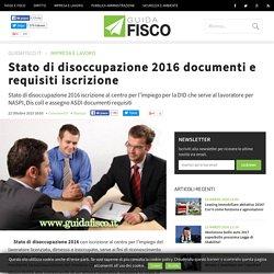 Stato di disoccupazione 2016 documenti e requisiti iscrizione