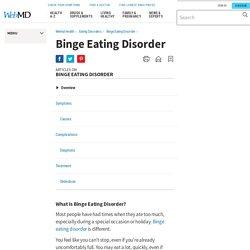 Binge Eating Disorder - WebMD