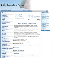 Sleep Disorder Types