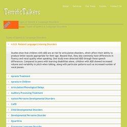 Types of Speech & Language Disorders