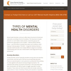 Mental Health Disorders Treatment Centers Texas
