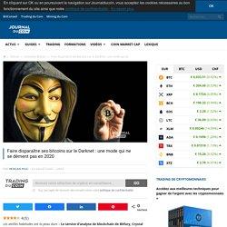 Faire disparaître ses bitcoins sur le Darknet : une mode qui ne se dément pas en 2020