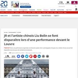 JR et l'artiste chinois Liu Bolin se font disparaître lors d'une performance devant le Louvre