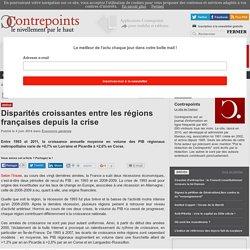 Disparités croissantes entre les régions françaises depuis la crise