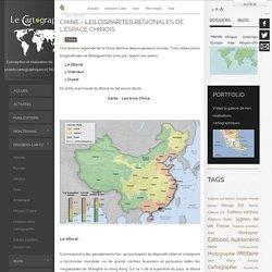 Chine - Les disparités régionales de l'espace chinois