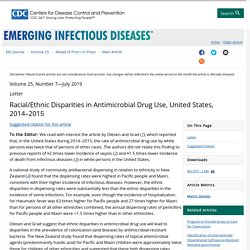 CDC EID - JULY 2019 - Racial/Ethnic Disparities in Antimicrobial Drug Use, United States, 2014–2015