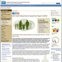 Reports - Health Disparities - Inequalities - CHDIR - Minority Health