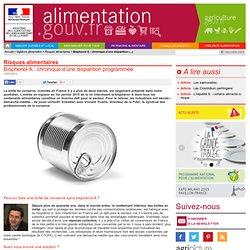 ALIMENTATION_GOUV_FR 10/07/13 Bisphenol A : chronique d'une disparition programmée