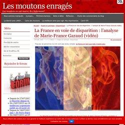 La France en voie de disparition : l'analyse de Marie-France Garaud (vidéo)