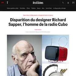 Disparition du designer Richard Sapper, l'homme de la radio Cubo - Tout chose, le blog mode et design de Xavier de Jarcy